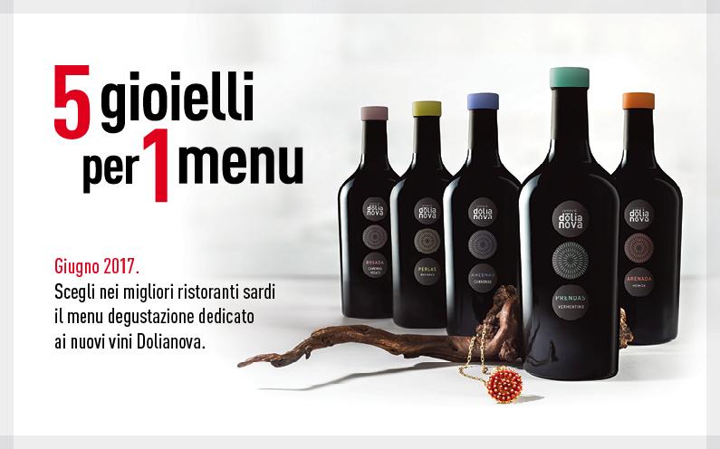 I nostri vini protagonisti dei menu dei migliori ristoranti sardi.