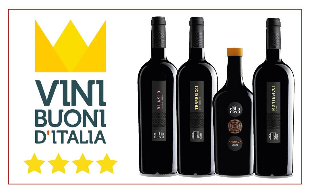 Vinibuoni premia altri 4 nostri vini con 4 stelle ciascuno