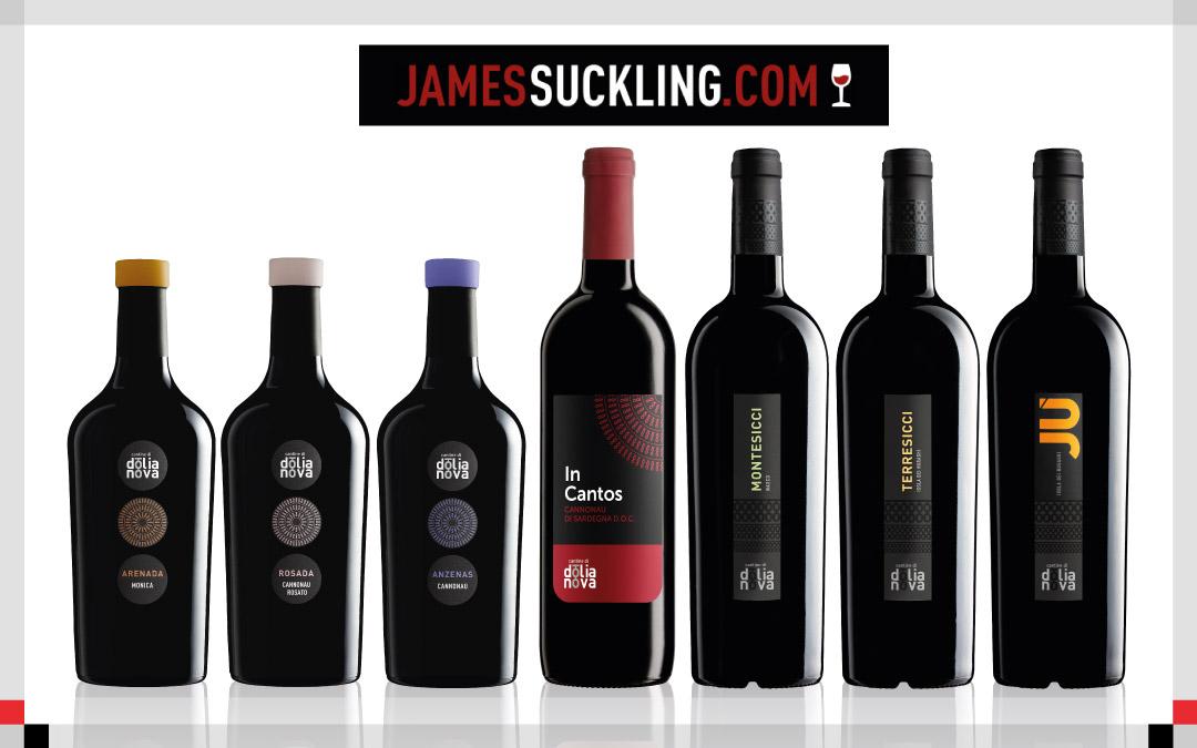 Prestigiosi punteggi James Suckling per 7 nostri vini