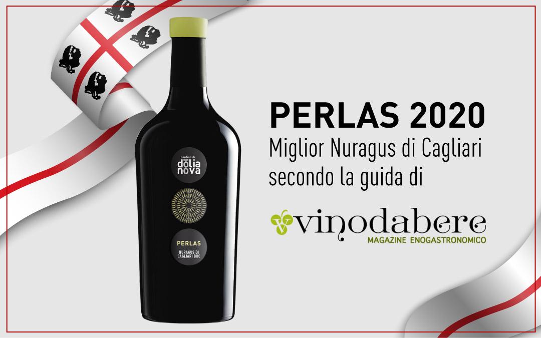 La guida di Vinodabere conferisce al Perlas 2020 il titolo di miglior Nuragus di Cagliari Doc.