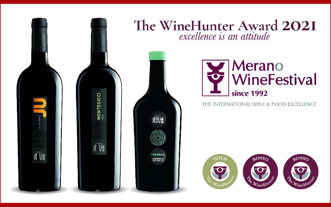 """3 vini premiati al """"The WineHunter Award 2021"""""""